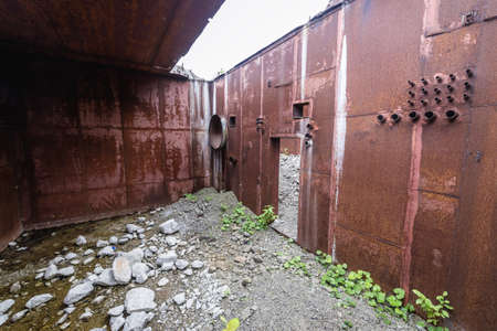 Inside the abandoned Soviet era bunker of Warsaw Pact treaty called Object 1180 in Moldova