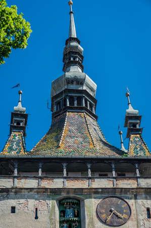 Clock Tower in Sighisoara town in Romania
