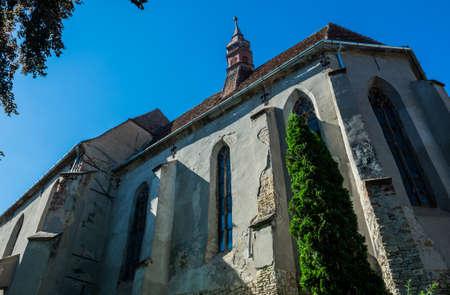 old Monastery Church in Sighisoara town in Romania