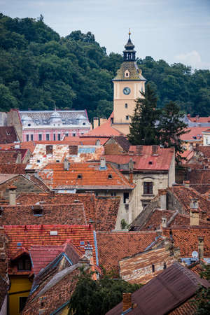 Council House tower in Brasov city in Romania