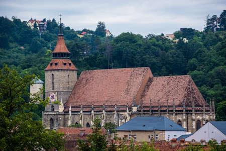 Gothic style Black Church in Brasov city in Romania