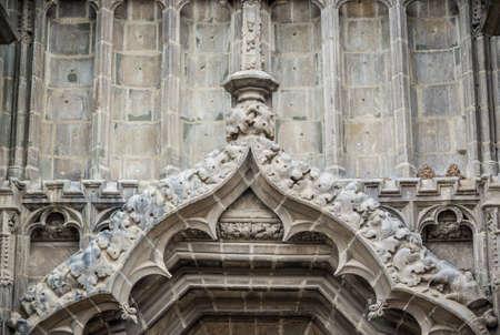 Details of Black Church in Brasov city in Romania