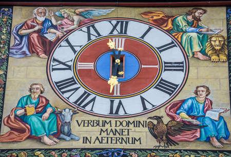 Clock of Black Church in Brasov city in Romania