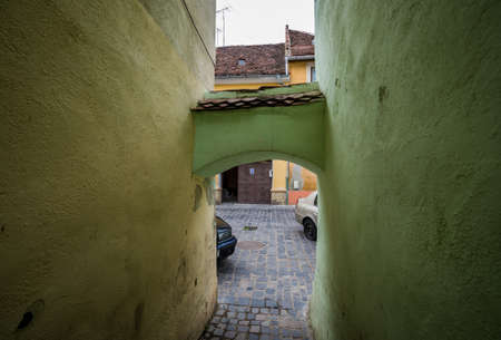 String Street in Brasov city - narrowest street in Romania