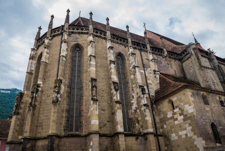 Gothic style Black Church in Brasov city in Romania