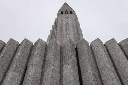 Famous Hallgrimskirkja Church- the largest church in Reykjavik, capital city of Iceland