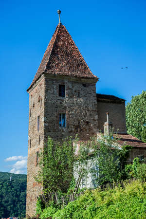old Ropemakers Tower in Sighisoara town in Romania Editorial