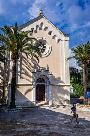 Herceg Novi, Montenegro - May 24, 2017: St Jerome church located on one of the squares of historic part of Herceg Novi