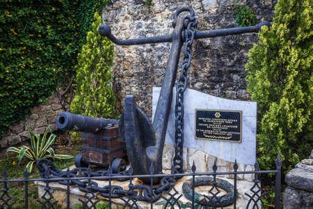 Herceg Novi, Montenegro - May 24, 2017: Memorial for killed in Naval Battles in historic part of Herceg Novi Editorial