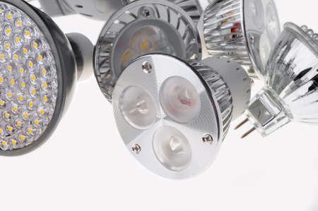 led  lights bulb isolated of white photo