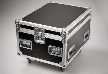 case:  Metallic rivets of a road case (for transporting music and lightning equipment).