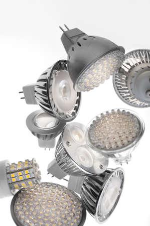 led lamp:  LED lights bulb isolated of white Stock Photo