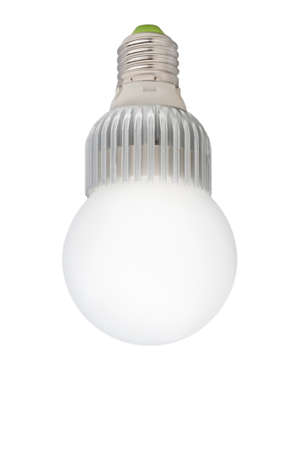 resourceful:  LED light bulb isolated of white