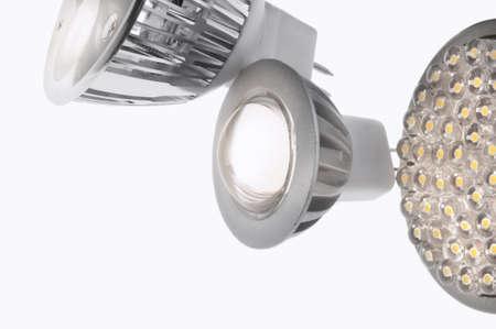 LED lights bulb isolated of white Stock Photo - 9465498