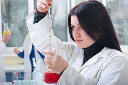 Closeup of a female researcher  Stock Photo - 9947369