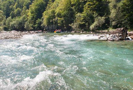 tara: rafting on the river Tara Stock Photo