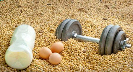 casein: 3 different source of proteins: milk, eggs, soya