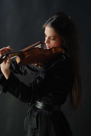 solo violinist: Pretty girl with violin