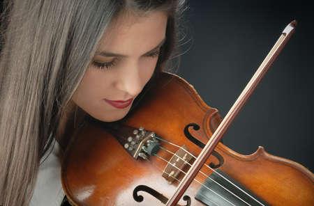 Pretty girl with violin