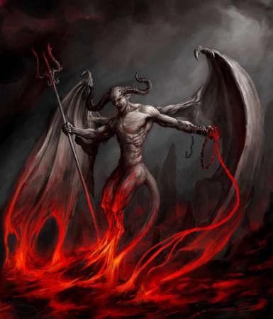 demonio: Diablo. Proyecto de arte Foto de archivo