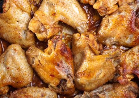 freshly roasted chicken wings photo