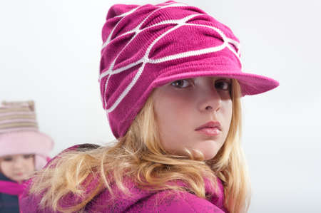 portrait of little girl in winter clothes Stock Photo - 11455723