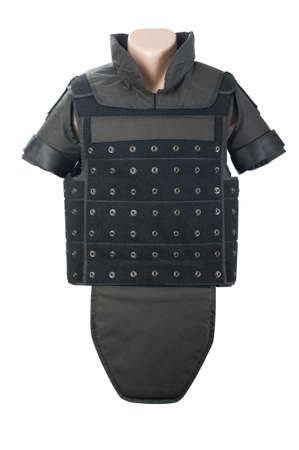 Bulletproof vest isolated. photo