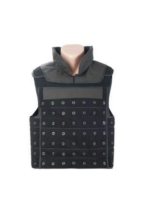kevlar: Bulletproof vest isolated. Stock Photo