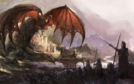 castello medievale: drago