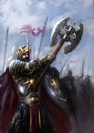 király: király és serege a harcmezőn