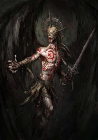 angel of death: evil, blind, fallen angel of death