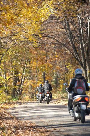 motorcycle rider: Motorbikes on Mountain Road