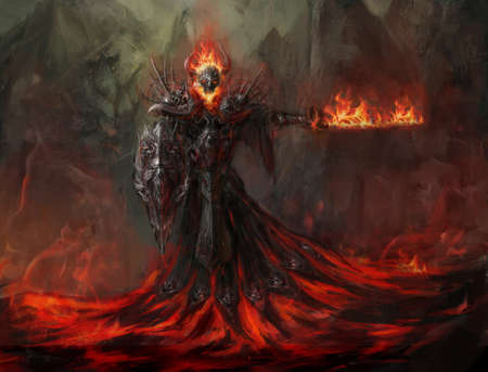 demons: fire reverent melting up from magma