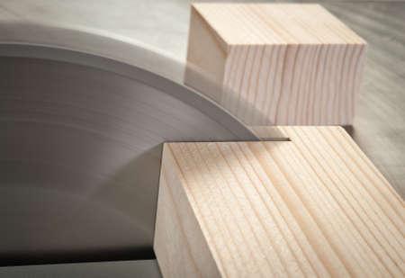 Cirkelzaag het snijden van houten plank