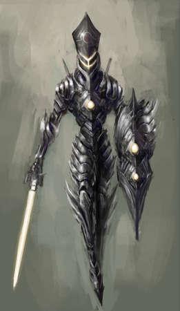 cyborg: bionic cybernetics alien worior concept