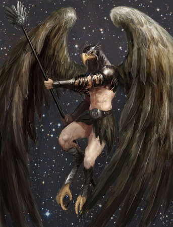 knight armor: half eagle half man amon ra