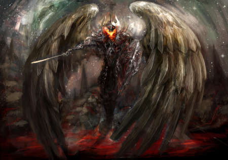 demonic: the bringer of apocalypse winged overlord