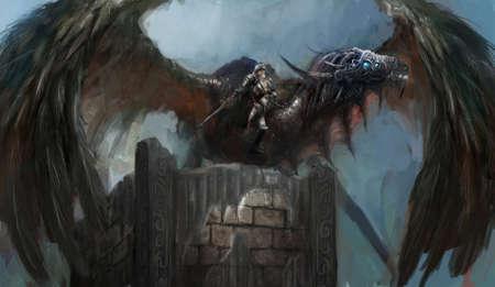 Dragon Rider Stock Photo