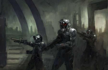 robot war: science fiction marines in war