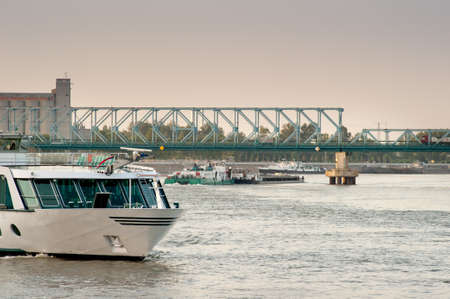 river boats on the river Danube photo