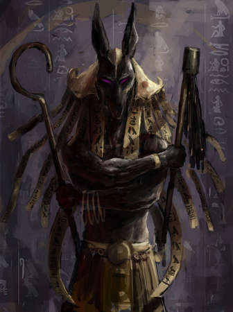 illustratie van anubis Egyptische god