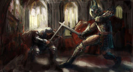 templar: two woriors fighting to the death