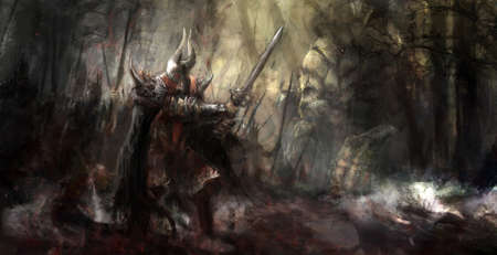 guerrero: general al frente de su ej�rcito en la guerra