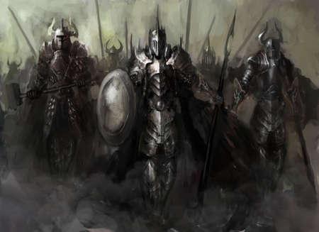 generaal, die zijn leger in de oorlog