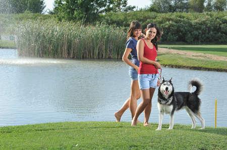 sled dog: sisters and her faithful husky