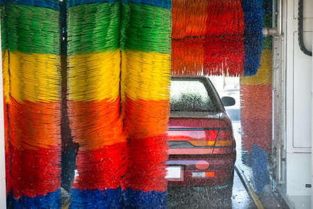 wash car: Car in car wash  car wash
