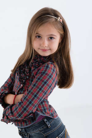 denim skirt: cute girl in denim skirt