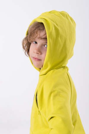 cool kids: boy in a hooded sweat shirt