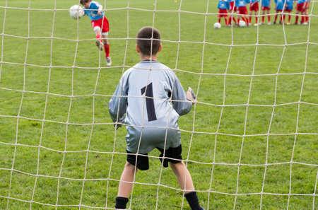 Bramkarz Piłka w akcji