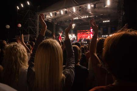 night life on festival